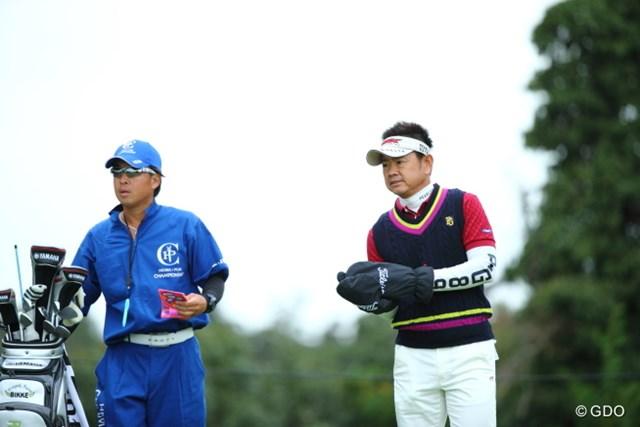 2013年 HEIWA・PGM CHAMPIONSHIP in 霞ヶ浦 3日目 藤田寛之 手がかじかんだらグリップに影響するからね。