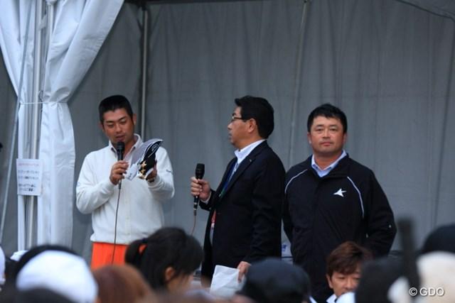 2013年 HEIWA・PGM CHAMPIONSHIP in 霞ヶ浦 3日目 オークション 池田プロとは裏腹に、ほとんど存在感のない横田プロであった。