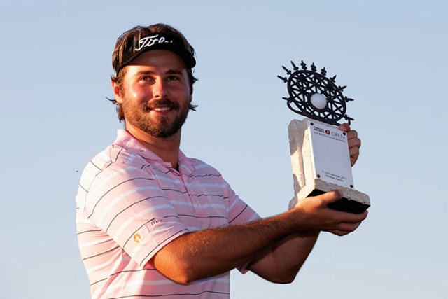 強豪の追撃を交わして、初優勝を飾ったビクター・デュビッソン (Dean Mouhtaropoulos/Getty Images)