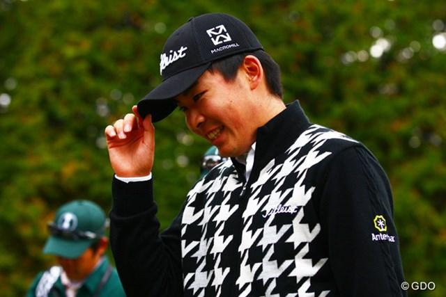 初出場で初日としては満足なゴルフだったのでしょう。終わった後の笑顔が印象的でした。