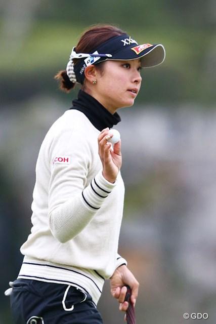 2013年 伊藤園レディスゴルフトーナメント 2日目 森田理香子 横峯さくらと同組になった森田理香子。プレッシャーも素直に受け入れ3アンダー