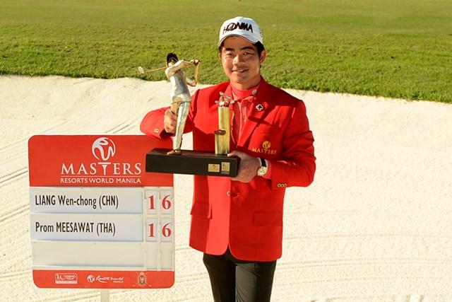 プレーオフを制し、ツアー通算3勝目を手にしたリャン・ウェンチョン(写真:アジアンツアー)