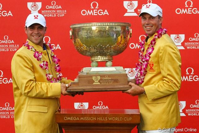 前回の優勝にも貢献したクーチャー(右)は今大会で米国の連覇を狙う