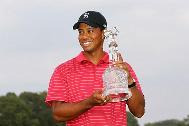 「FedEx Cup」初代王者にふさわしい圧勝劇で、PGAの歴史に新たな1ページを刻んだT.ウッズ(S.Greenwood /Getty Images)