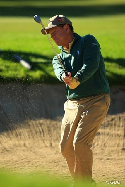 ゴルフのスタイルも紳士なところも、昔から何一つ変わらないですよねぇ。5オーバー70位タイです。