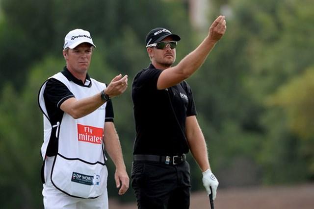 2013年 南アフリカオープン選手権 事前 ヘンリック・ステンソン 手首の故障により、今大会の出場を断念したH.ステンソン(Getty Images)