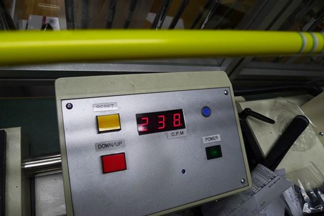 マーク試打 グラファイトデザイン ツアーAD MTシリーズ 6SRの振動数は238cpmと、やや軟らかめの設定だ