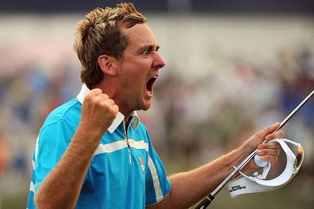 この日2勝を上げる活躍を見せた欧州チームのI.ポールター(Sam Greenwood/Getty Images)