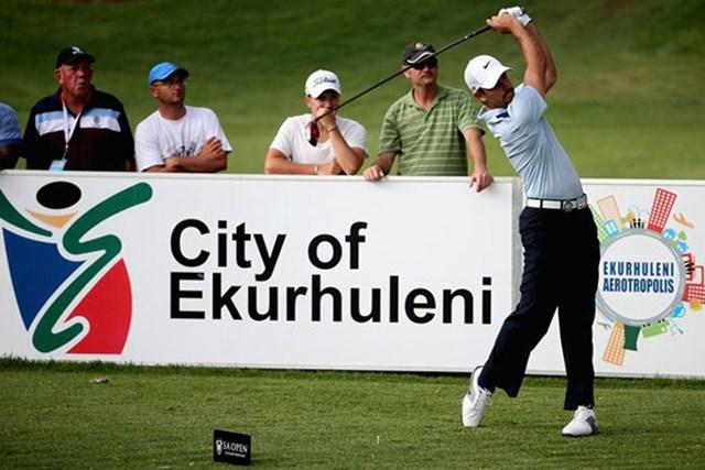 2013年 南アフリカオープン選手権 2日目 チャール・シュワルツェル 大会2日目、「65」をマークして首位に躍り出たメジャー覇者チャール・シュワルツェル(Getty Images)