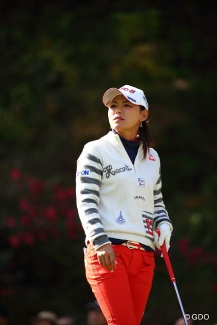 優勝した森田理香子に約280万円差のリードを許し、次週の最終戦を迎える横峯さくら