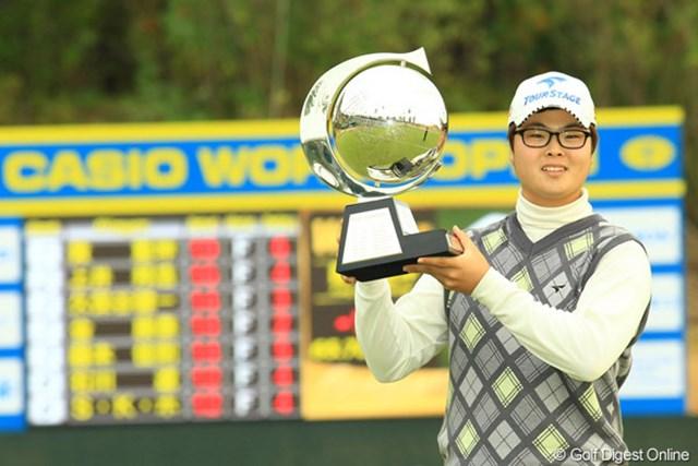 2013年 カシオワールドオープンゴルフトーナメント 事前 ハン・ジュンゴン 昨年大会を制したハン・ジュンゴン。この大会で連覇を果たし最終戦出場を狙う