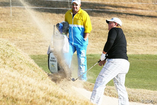 2013年 カシオワールドオープンゴルフトーナメント 初日 カート・バーンズ 初日3アンダーで単独首位に立ったカート・バーンズ