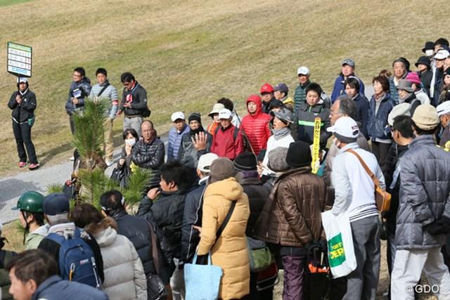 2013年 カシオワールドオープンゴルフトーナメント 初日 石川遼 もしかしてギャラリーに囲まれちゃった?
