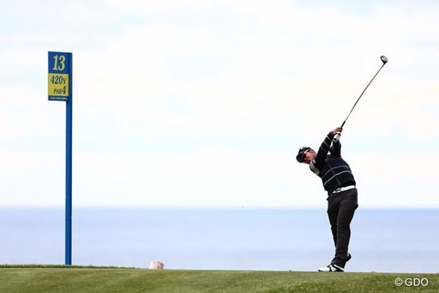 2013年 カシオワールドオープンゴルフトーナメント 初日 松山英樹 どうしても海が見えると写真に入れたくなってしまうんですよね~