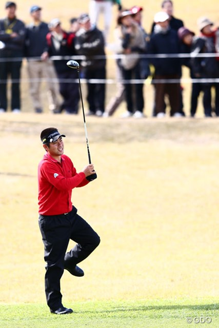 2013年 カシオワールドオープンゴルフトーナメント 初日 池田勇太 これは力入ったね(アベレージゴルファーの力みとは別物ですよ)