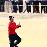 これは力入ったね(アベレージゴルファーの力みとは別物ですよ) 2013年 カシオワールドオープンゴルフトーナメント 初日 池田勇太