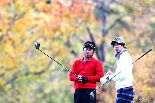 2013年 カシオワールドオープンゴルフトーナメント 初日 池田勇太 石川遼 最近はなかなか見れなくなったツーショット
