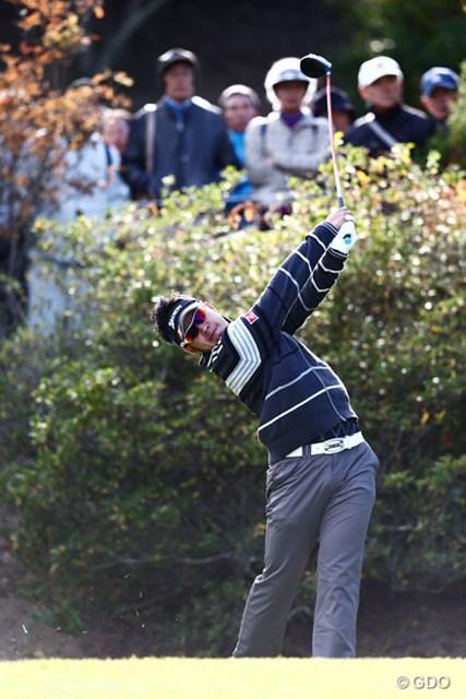 2013年 カシオワールドオープンゴルフトーナメント 初日 松山英樹 あいかわらずパワフルなドライバーショット