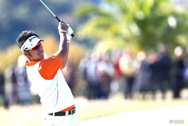 2013年 カシオワールドオープンゴルフトーナメント 3日目 松山英樹 後続に2打差を付け、最終日を前に単独首位に立った松山英樹。