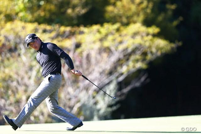 2013年 カシオワールドオープンゴルフトーナメント 3日目 永野竜太郎 カメラマンを喜ばせるファイティングポーズ