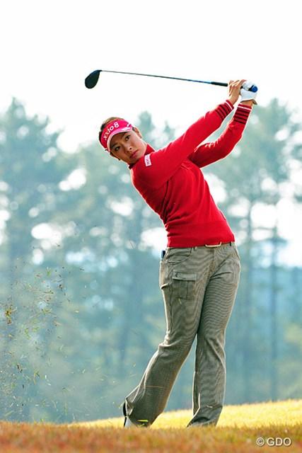 2013年 LPGAツアーチャンピオンシップリコーカップ 最終日 森田理香子 「一日中身体が動かなかった」そうです…。色々と大変な一週間でしたが、まッゆっくり休んでくらはい。12位T