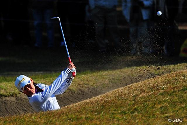 2013年 LPGAツアーチャンピオンシップリコーカップ 最終日 横峯さくら いや~結果的にはものすごく惜しい賞金差(130万円)やってんなァ…。7、8番の連続ボギーが敗因でしたワ…。7位T