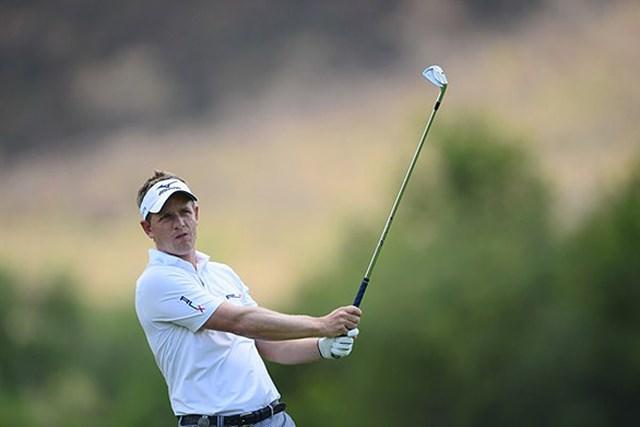 2013年 ネッドバンクゴルフチャレンジ 初日 ルーク・ドナルド バーディ、イーグルのロケットスタートで、暫定ながら単独首位に立ったL.ドナルド (Getty Images)