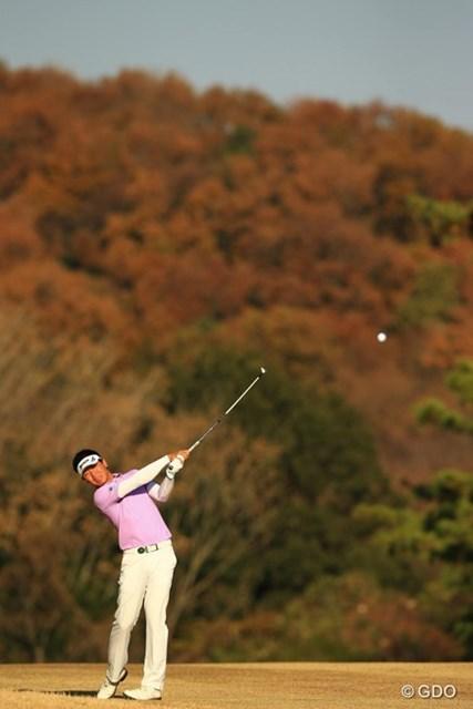 2013年 ゴルフ日本シリーズJTカップ 2日目 呉阿順 17番Par5ではもったいないボギーもありましたが、67のナイスラウンドでした。6アンダー3位タイです。