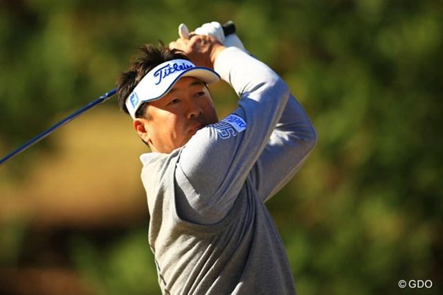 2013年 ゴルフ日本シリーズJTカップ 2日目 丸山大輔 今日も我慢のゴルフながら、安定したゴルフでスコアを伸ばしました。2アンダー9位タイです。