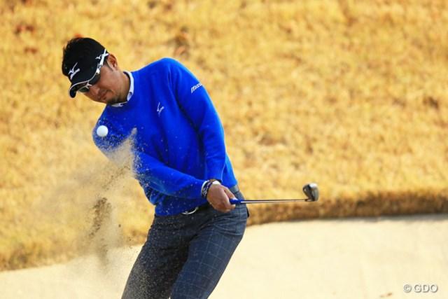 2013年 ゴルフ日本シリーズJTカップ 2日目 小林正則 日本オープンチャンピオンは、出入りの激しいゴルフでスコアを落し、単独18位に。