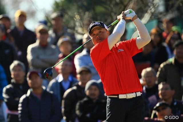 2013年 ゴルフ日本シリーズJTカップ 3日目 小田孔明 今日も出入りの激しい忙しいゴルフでしたね。5アンダー単独6位です。