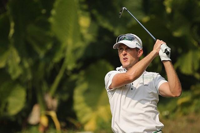 2013年 香港オープン 3日目 スチュアート・マンリー 好調なスイングを生かし、ツアー初優勝に王手をかけたS.マンリー(Getty Images)