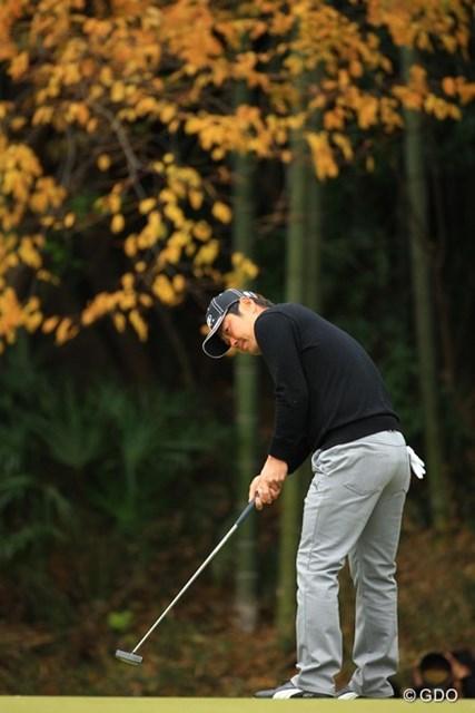 2013年 ゴルフ日本シリーズJTカップ 最終日 谷原秀人 優作がバタついてる間に何とか捕まえたかったのですが・・・。単独3位フィニッシュ。