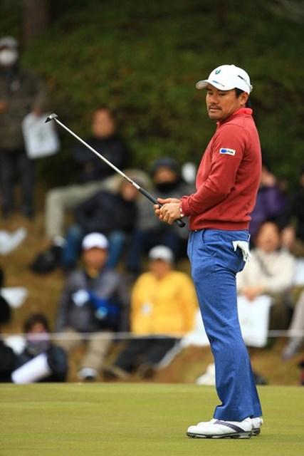 2013年 ゴルフ日本シリーズJTカップ 最終日 宮里優作 前半は大事なパットが入ってくれず・・・。