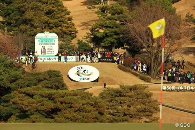 2013年 ゴルフ日本シリーズJTカップ 最終日 宮里優作 3打差を付けて最終18番ティショット。