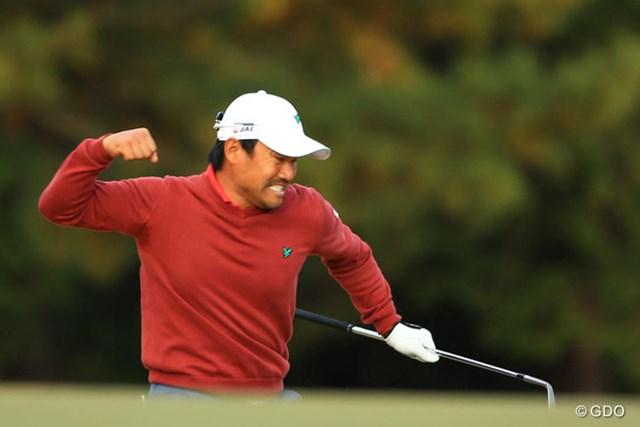 2013年 ゴルフ日本シリーズJTカップ 最終日 宮里優作 まさか入るとは・・・。18番、返しのアプローチは見事なチップイン!!!!スーパーパーセーブで、みんなが待ってた念願の初優勝!!!