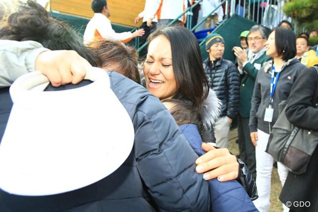 2013年 ゴルフ日本シリーズJTカップ 最終日 宮里藍 藍ちゃんを中心に家族みんなも大喜び。