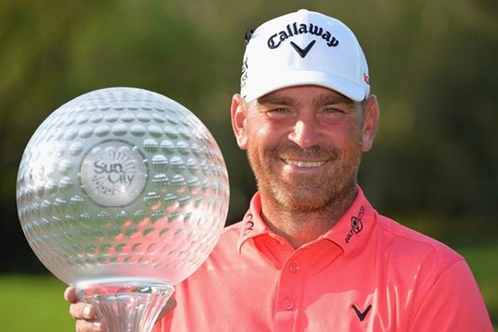 14年初優勝を華麗な逆転優勝で飾ったトーマス・ビヨーン(Getty Images) 2013年 ネッドバンクゴルフチャレンジ 最終日 トーマス・ビヨーン