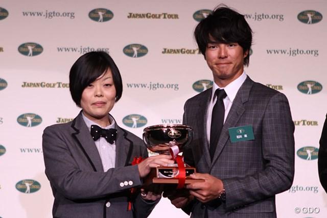 ファン投票によって選ばれたMost Impressive Player賞を受賞した石川遼