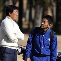 親子でタッグを組んだ羽川豊と息子の宜宏(よしひろ)さん 2013年 日立3ツアーズ選手権 羽川豊と息子の宜宏(よしひろ)さん