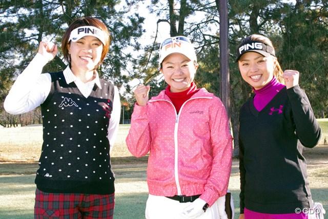 ピンゴルフジャパンのイベントでアマチュアとニアピン対決をした3人