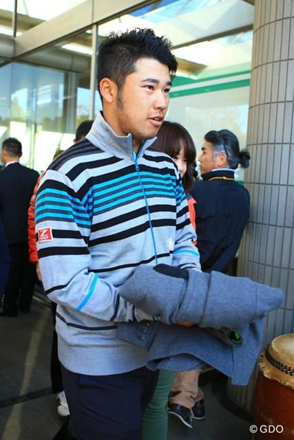 2013年 日本シリーズJTカップ 初日 松山英樹 アジア選抜としてのプレーする予定だった松山英樹は負傷のため欠場した。(画像は日本シリーズJTカップ初日)