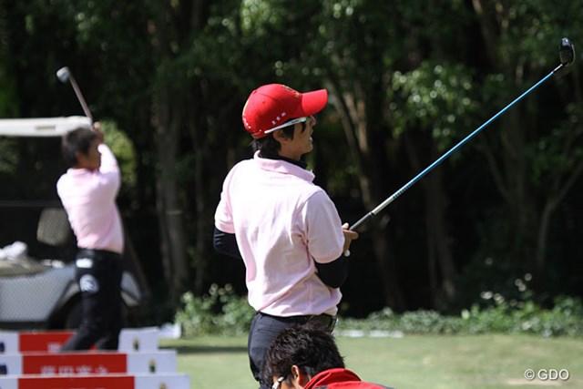 2013年 ザ・ロイヤルトロフィ 事前 石川遼 石川遼と藤田寛之はコースに来て早速練習を行った