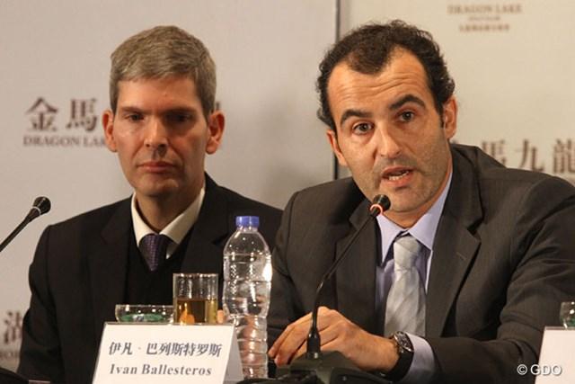 2013年 ザ・ロイヤルトロフィ 事前 イバン・バレステロス 大会の共同実行責任者を務めるセベの甥、イバン・バレステロス氏