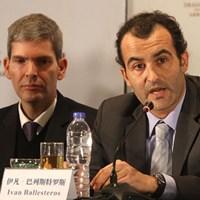 大会の共同実行責任者を務めるセベの甥、イバン・バレステロス氏 2013年 ザ・ロイヤルトロフィ 事前 イバン・バレステロス