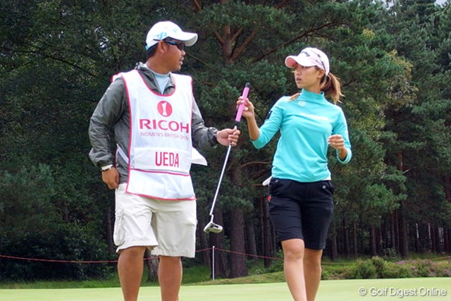 全英リコー女子オープンで昨年のリベンジを目指す上田桃子