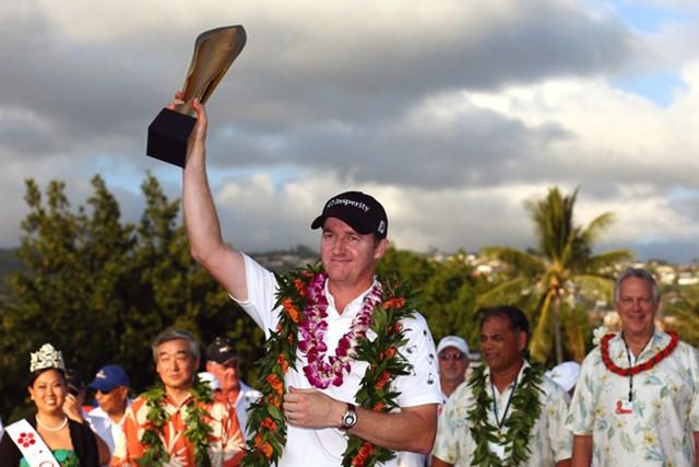 待望の初優勝から早くも2勝目・・・ウォーカーはいま、新シーズンで最もホットな男だ。(Tom Pennington/Getty Images))