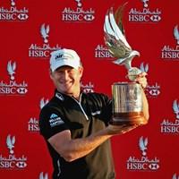 昨年の大会では2打差を逆転したJ.ドナルドソンが初勝利を手にした 2014年 アブダビHSBCゴルフ選手権 事前 ジェイミー・ドナルドソン