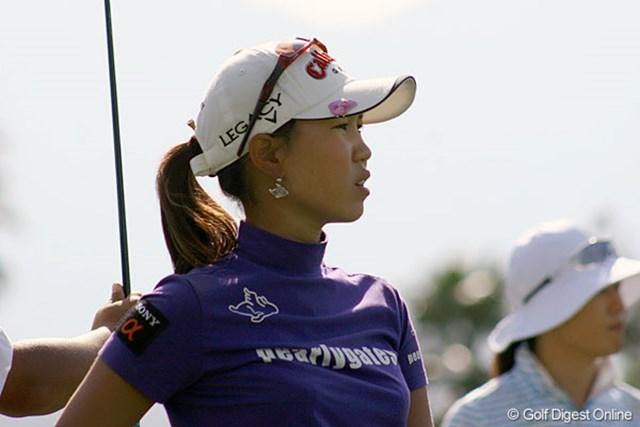 首位とは離れたが、あと2日で上位進出を目指す上田桃子(撮影:クラフトナビスコ選手権)