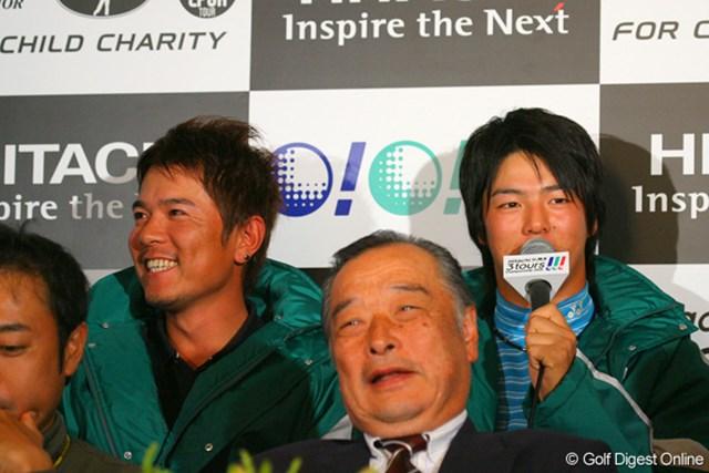 JGTOメンバーの一員として、勝利に貢献したい石川遼